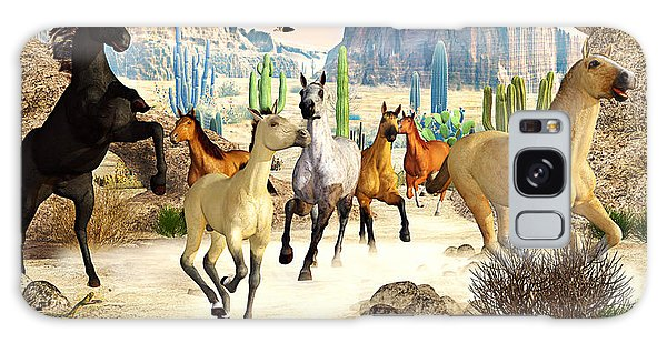 Desert Horses Galaxy Case by Peter J Sucy