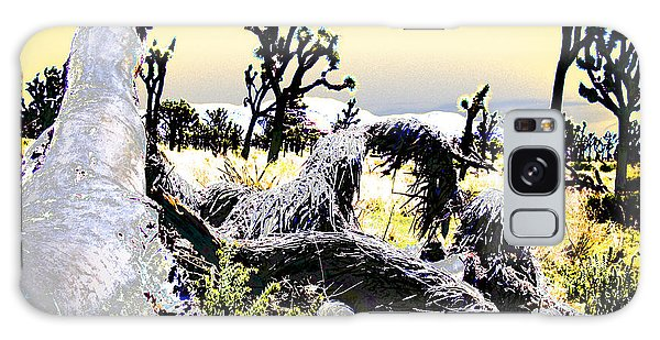 Desert Landscape - Joshua Tree National Monment Galaxy Case by Ann Tracy