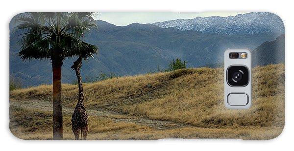 Desert Palm Giraffe 001 Galaxy Case