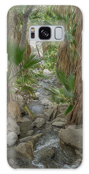 Galaxy Case featuring the photograph Desert Palms Oasis by Frank DiMarco