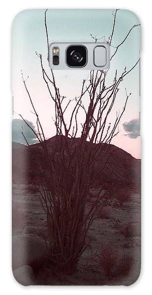 Death Valley Galaxy Case - Desert Plant And Sunset by Naxart Studio