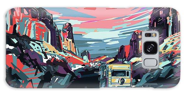 Desert Road Landscape Galaxy Case by Bekim Art