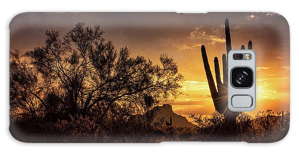 Galaxy Case featuring the photograph Desert Skylight  by Saija Lehtonen