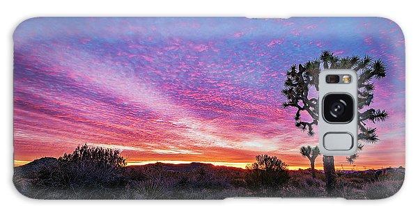 Desert Sunrise At Joshua Tree Galaxy Case