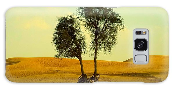 Desert Trees Galaxy Case
