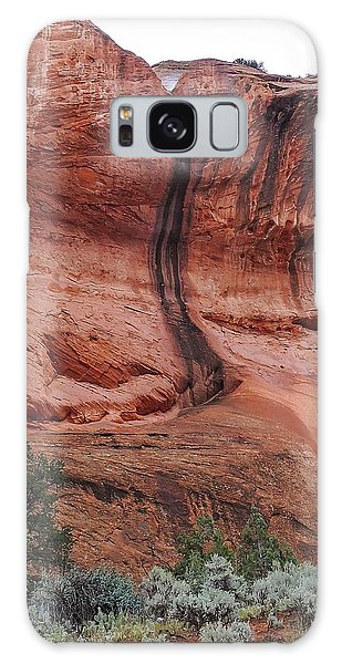 Desert Varnish Along Burr Trail Galaxy Case