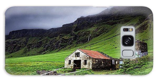 Deserted Barn In Iceland Galaxy Case