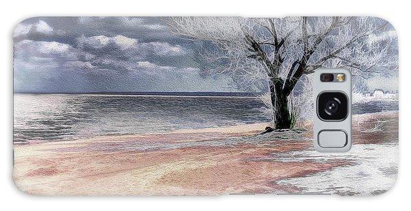 Deserted Beach Galaxy Case by Pennie  McCracken