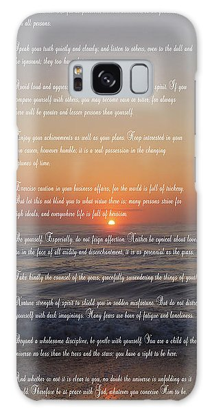 Thought Galaxy Case - Desiderata ......... Desired Things by Daniel Hagerman