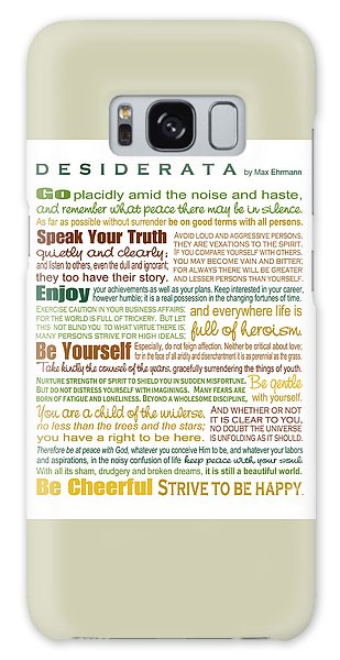 Desiderata - Earthtones - Rectagular Format Galaxy Case