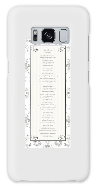 Desiderata In Silver Script By Max Ehrmann Galaxy Case