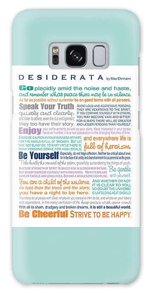 Desiderata - Multi-color - Rectangular Format Galaxy Case