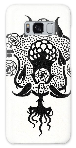 Decorative Galaxy Case - Design For The Front Cover Of Salome by Aubrey Beardsley