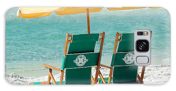 Destin Florida Beach Chairs And Yellow Umbrella Square Format Galaxy Case
