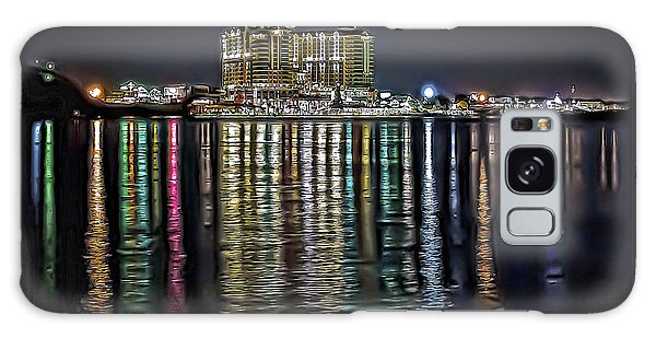 Destin Night Across The Estuary Galaxy Case