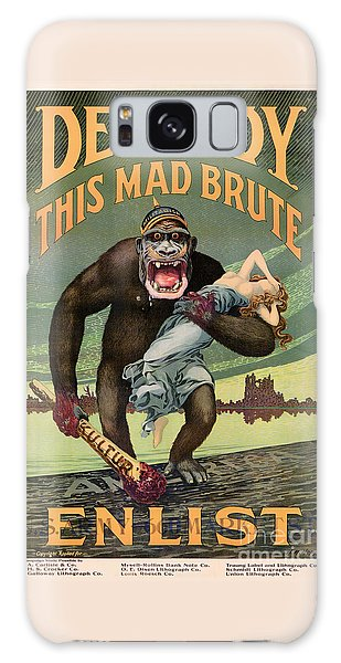 Destroy This Mad Brute - Restored Vintage Poster Galaxy Case
