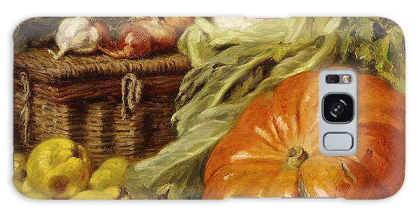 Detail Of A Still Life With A Basket, Pears, Onions, Cauliflowers, Cabbages, Garlic And A Pumpkin Galaxy Case