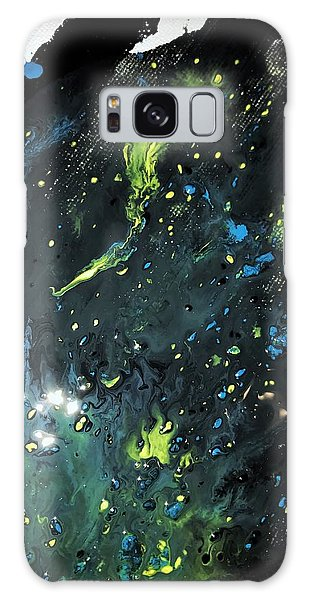 Detail Of Mixed Media Painting 2 Galaxy Case