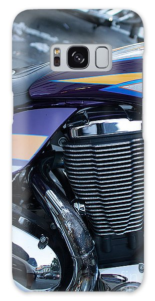 Detail Of Shiny Chrome Cylinder And Engine On Cruiser Motorcycle Galaxy Case by Jason Rosette