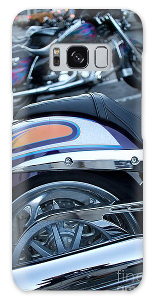 Detail Of Shiny Chrome Tailpipe And Rear Wheel Of Cruiser Style  Galaxy Case by Jason Rosette