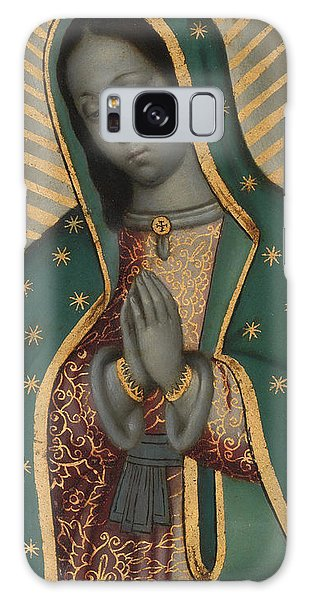 Central America Galaxy Case - Detail Of The Virgin Of Guadalupe Oil On Copper by Nicolas Enriquez