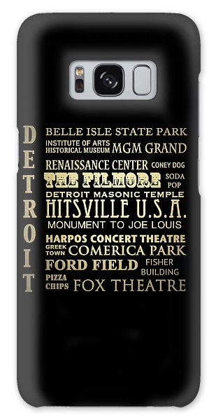 Detroit Michigan Famous Landmarks Galaxy Case