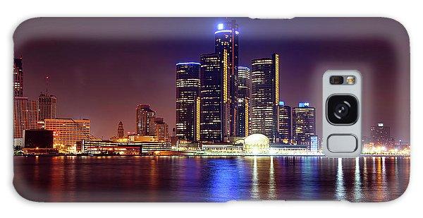 Detroit Skyline 4 Galaxy Case by Gordon Dean II