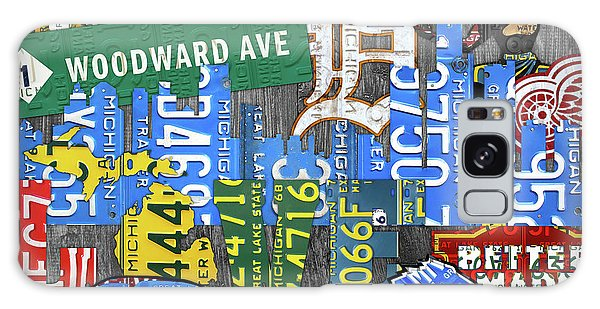 Motor City Galaxy Case - Detroit The Motor City Michigan License Plate Art Collage by Design Turnpike