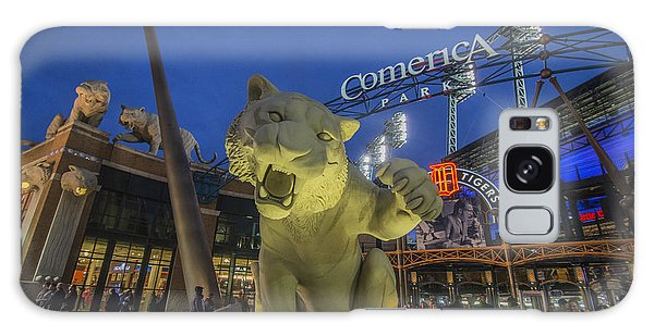 Detroit Tigers Comerica Park Front Gate Tiger Galaxy Case