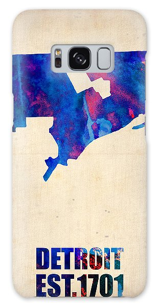 City Map Galaxy Case - Detroit Watercolor Map by Naxart Studio