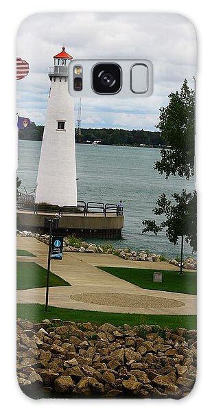 Detroit Waterfront Lighthouse Galaxy Case