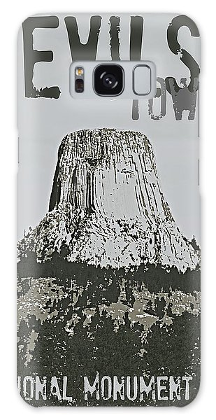Devils Tower Stamp Galaxy Case