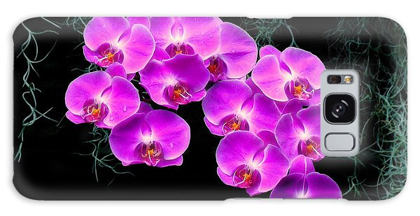 Dew-kissed Orchids Galaxy Case