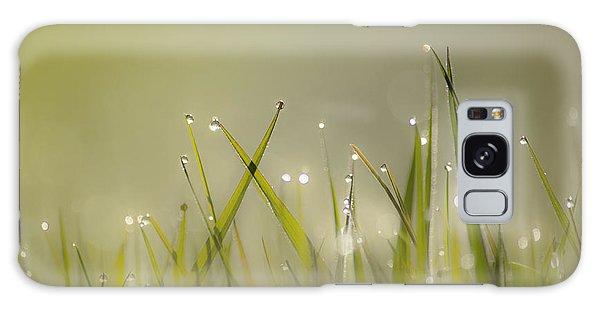 Dew On Grass Galaxy Case