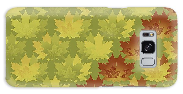 Diagonal Leaf Pattern Galaxy Case by Methune Hively