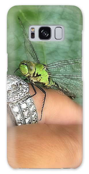 Diamonds Are A Dragonflies Best Friend Galaxy Case