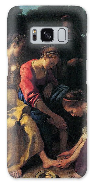Jan Vermeer Galaxy Case - Diana And Her Companions by Jan Vermeer