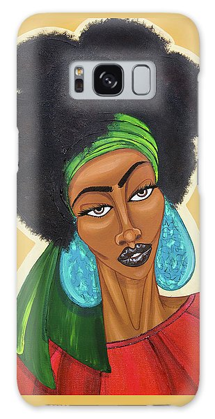 Galaxy Case featuring the painting Diced Pineapples by Aliya Michelle