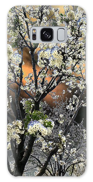 Digital Abstract Of Spring Blossoms Galaxy Case
