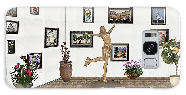 digital exhibition _ A sculpture of a dancing girl 11 Galaxy Case by Pemaro