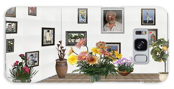 Digital Exhibition _ Flowers In A Vase Galaxy Case