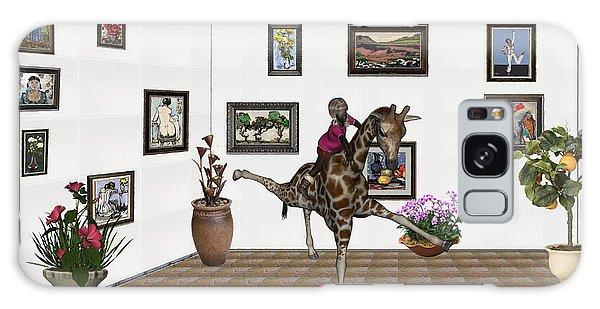digital exhibition _ It climbed up giraffe Galaxy Case by Pemaro