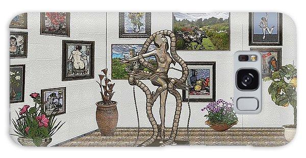 Digital Exhibition _ Modern  Statue 1   Of Dancing Girl Galaxy Case by Pemaro
