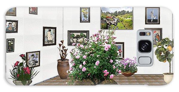 Digital Exhibition _ Roses Blossom 22 Galaxy Case by Pemaro