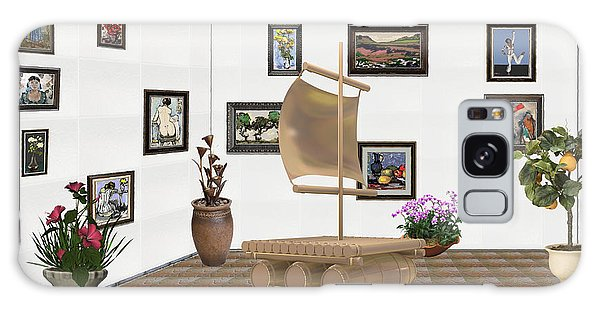 digital exhibition _ Statue raft with sails 4 Galaxy Case by Pemaro