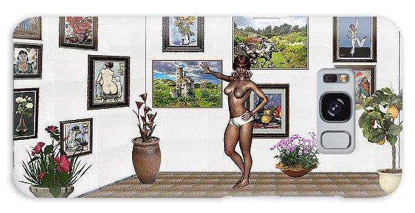 digital exhibition 32 _ posing  Girl 32  Galaxy Case by Pemaro
