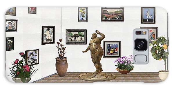 digital exhibition  Statue 25 of posing lady  Galaxy Case by Pemaro