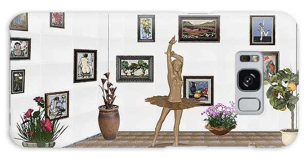 Digital Exhibition_statue Of My Dancing Girl Galaxy Case