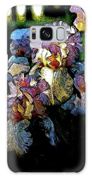 Digital Expressionist Painting Pale Pink Irises 6702 W_4 Galaxy Case