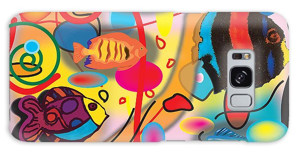 Digital Fish Galaxy Case by Christine Perry